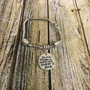 Mother and Daughter Is Forever Silver Bracelet